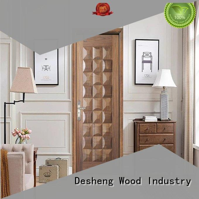 hardboard metal hdf door veneered Desheng Wood Industry Brand