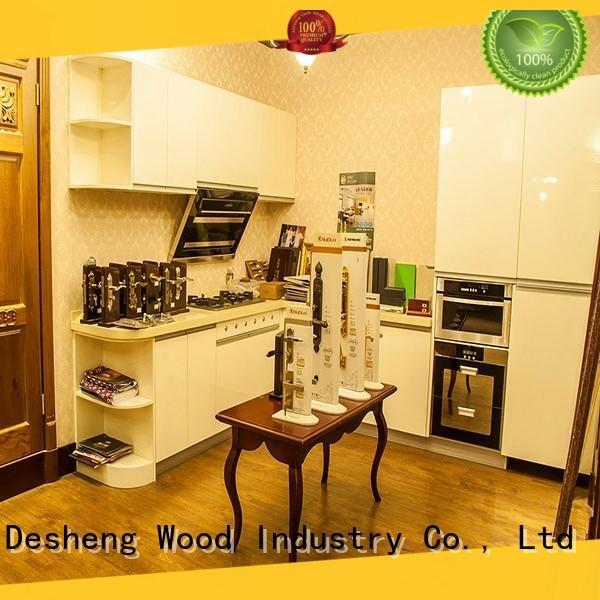 oak wood kitchen cabinets fast delivery for sale Desheng Wood Industry