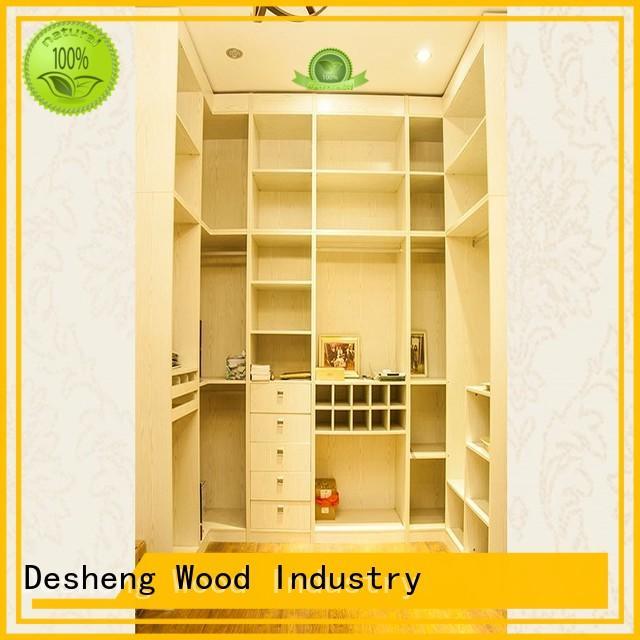 Desheng Wood Industry multifunctional single wooden wardrobe online for hospital