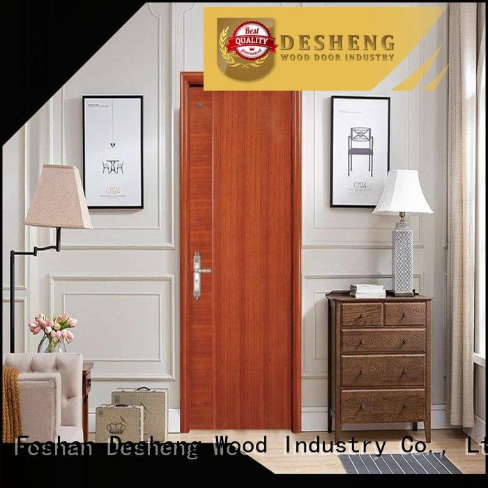 Desheng Wood Industry veneer door toilet louver door for restroom