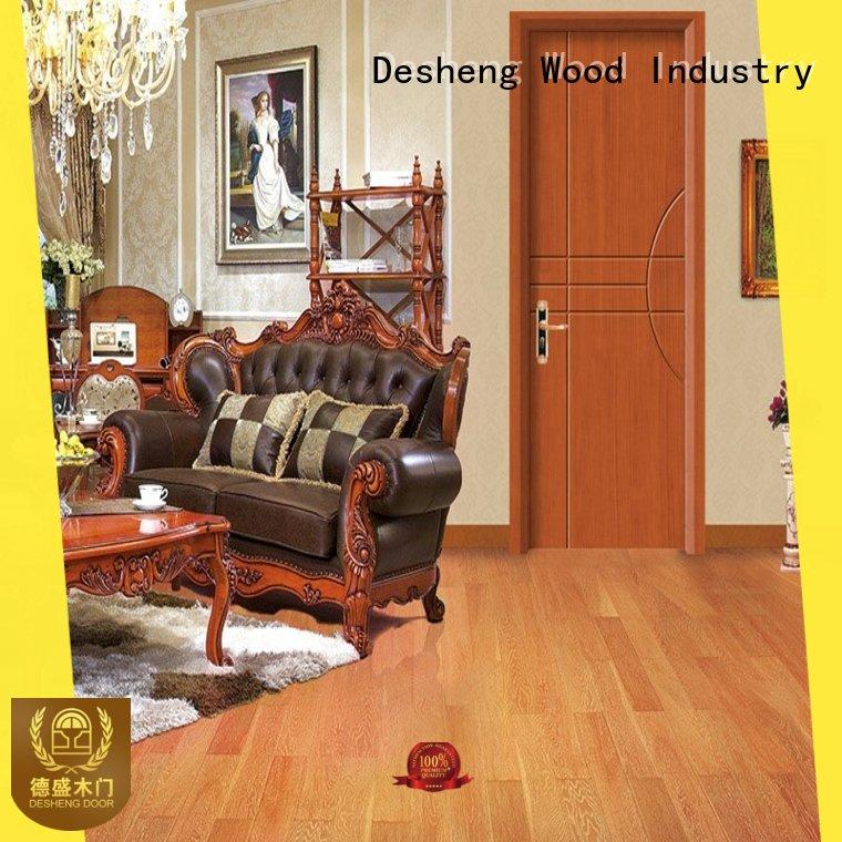 Desheng Wood Industry imported solid wood bifold doors supplier for villa