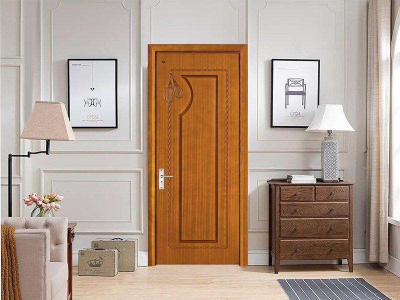 Fried dough twist rope and tassels design solid wood composite door DS-7619