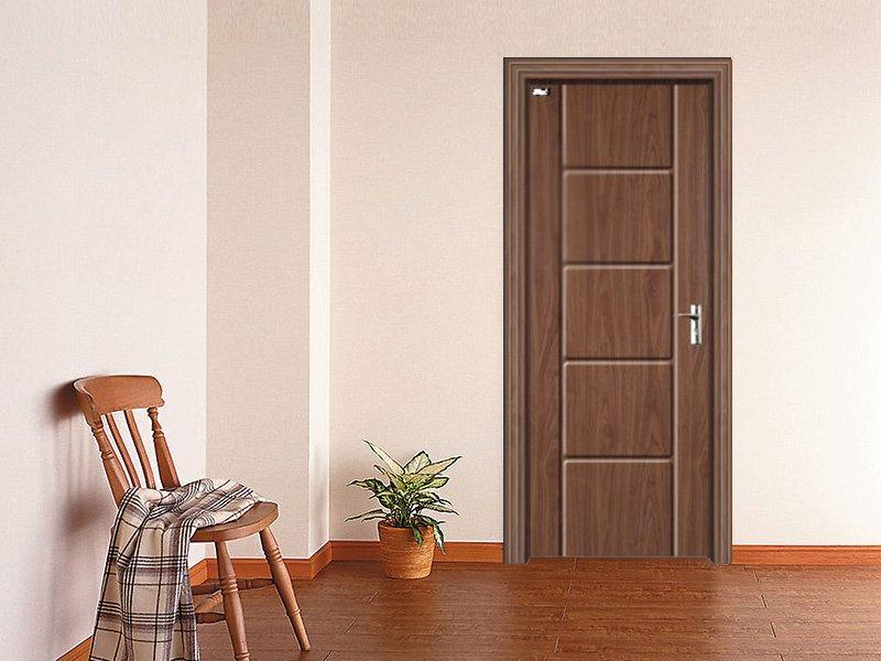 Ladder pattern red sandalwood grain PVC door  DS-V20