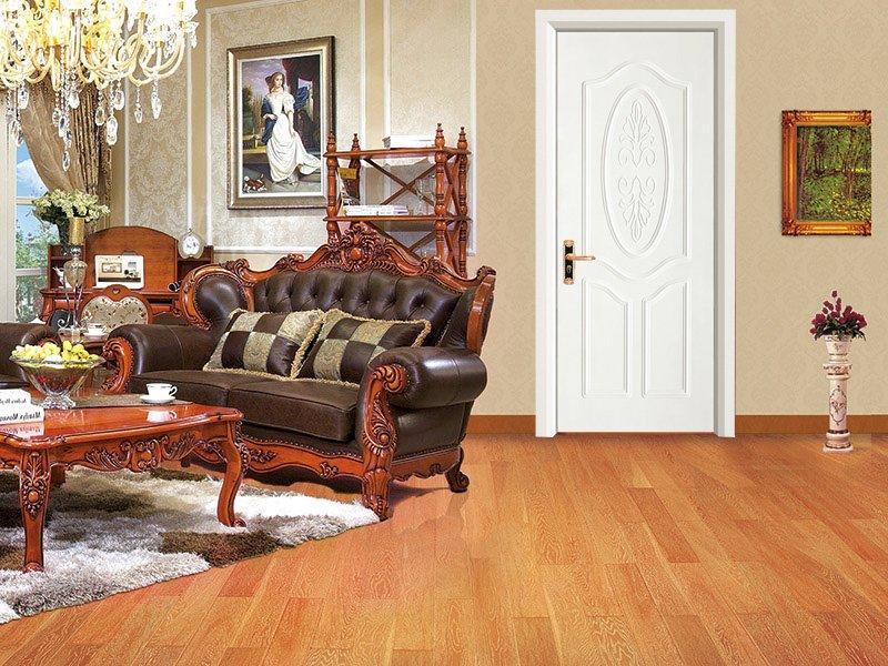 White color teak wood door  DS-7601