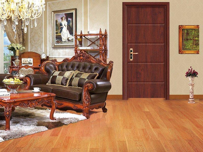 Long rectangular carving decorative Dark brown rosewood door  DS-7639