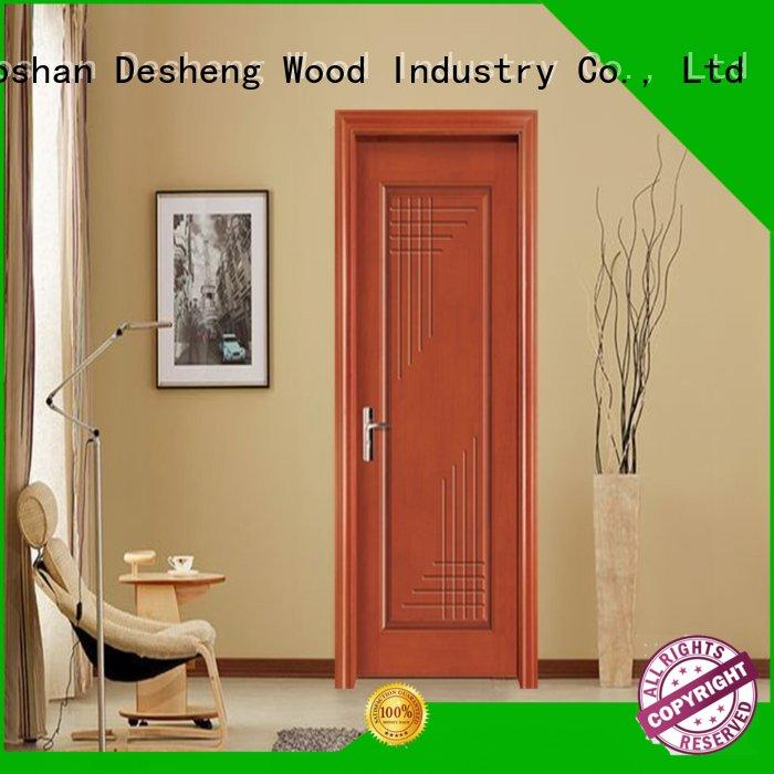 decorative stars ds7638 fire rated doors price Desheng Wood Industry Brand