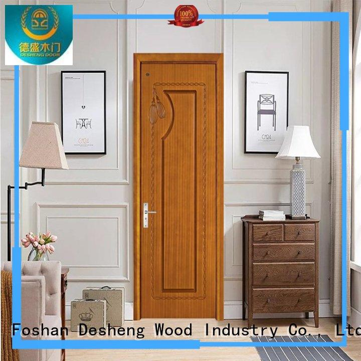 Desheng Wood Industry Brand veneered hdf door metal factory