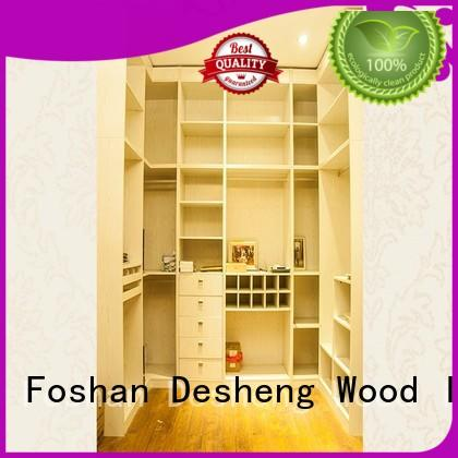 Desheng Wood Industry high quality solid wood armoire wardrobe fast delivery for office