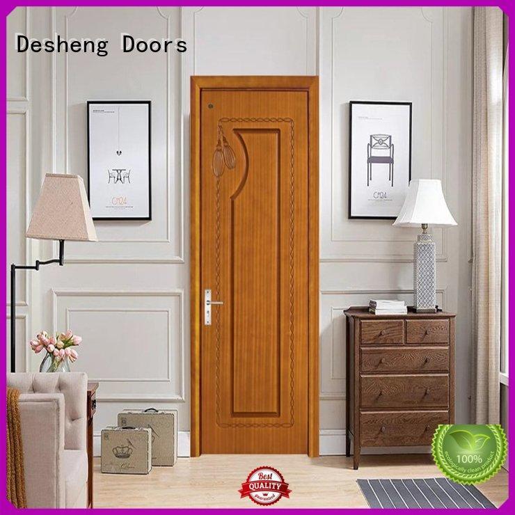 Desheng Doors tempered hdf door office door for restroom