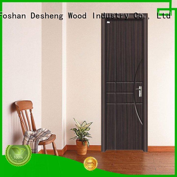 Desheng Wood Industry sandalwood pvc interior doors with packaging for school