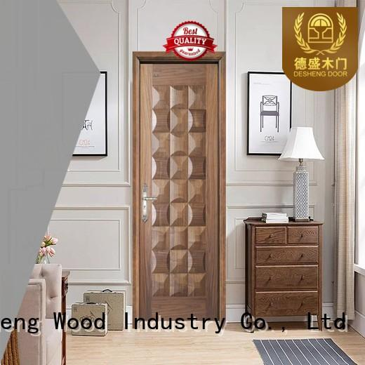 wood doors veneered hdf door fiberboard Desheng Wood Industry Brand