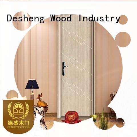 Desheng Wood Industry mdf panel doors full seal edging for school