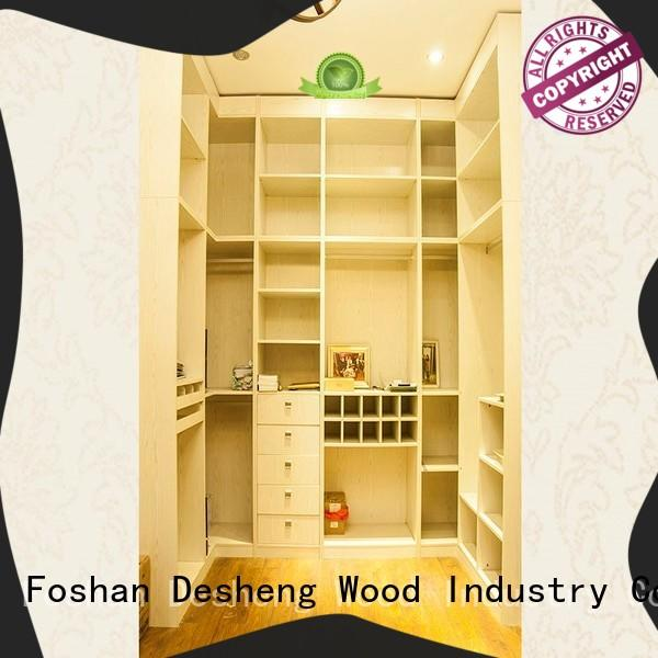 Desheng Wood Industry high quality solid wood wardrobes cheap customization for hotel