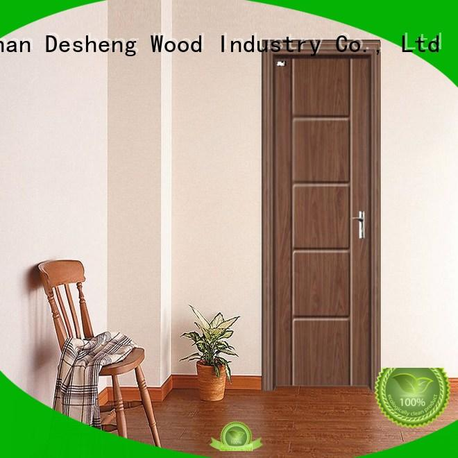 pvc bathroom doors with fir wood jamb for office Desheng Wood Industry