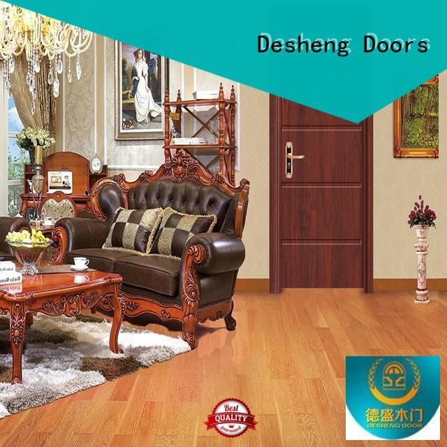 Desheng Doors decorative solid wood kitchen doors manufacturer for hotel