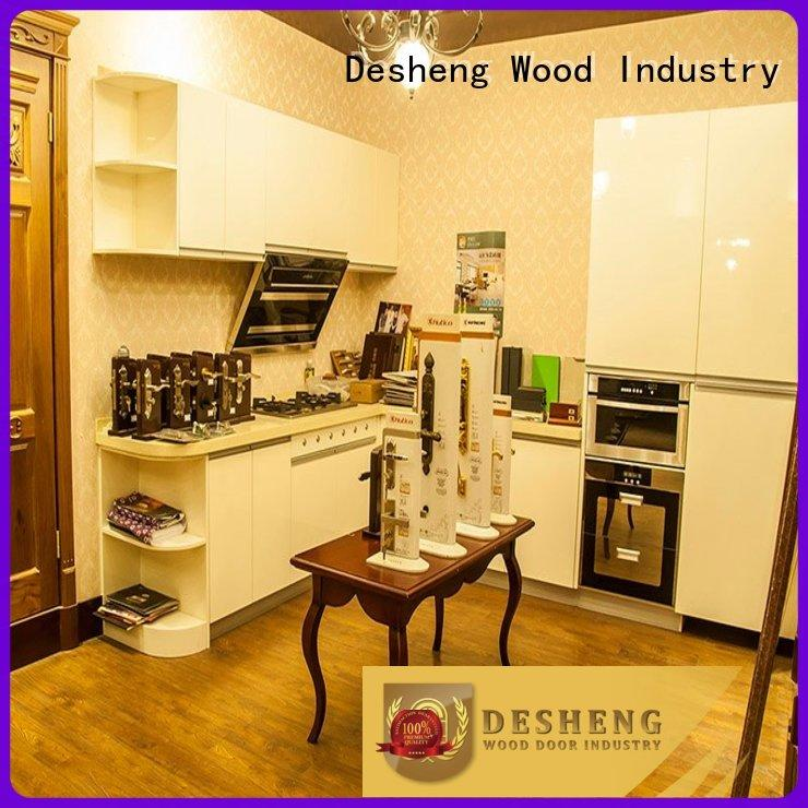 hot sale maple wood kitchen cabinets fast delivery for office Desheng Wood Industry
