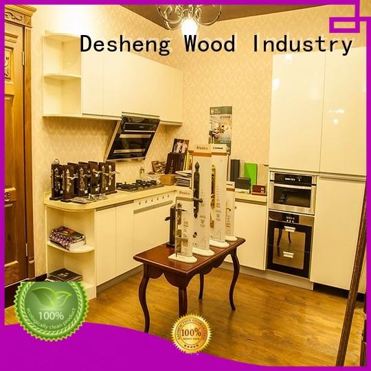 ivory cheap wood kitchen cabinets manufacturer for school
