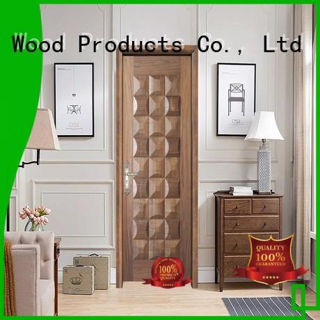 Desheng Doors walnut veneer doors residence door for bathroom