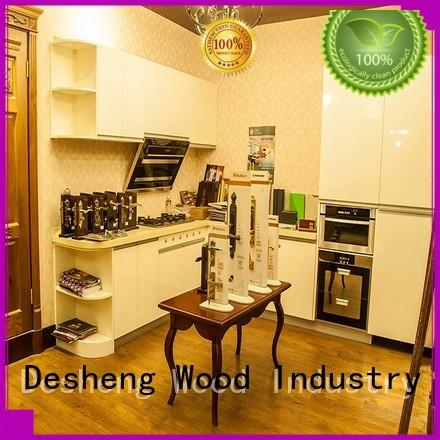fast delivery wood kitchen cabinets for sale hot sale for sale Desheng Wood Industry