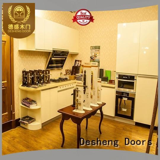 ivory solid wood kitchen cabinets customization for hospital