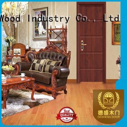 sapele solid wood door design design kerf Desheng Wood Industry company