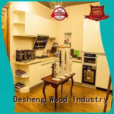 hot sale modern wood kitchen cabinets online for office Desheng Wood Industry