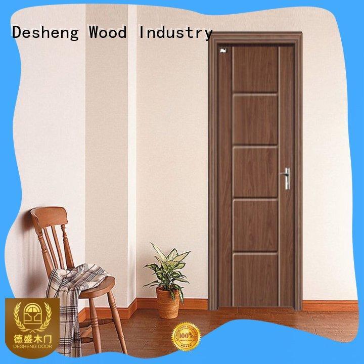 Desheng Wood Industry grain pvc door design fast delivery for hotel