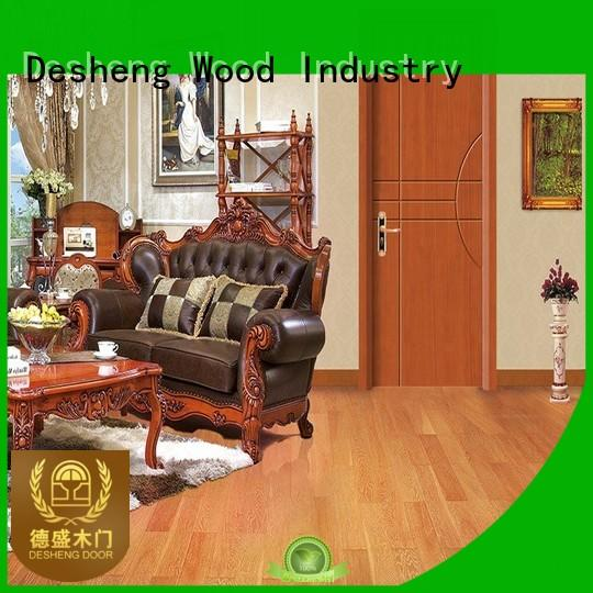 solid wood interior doors ladder arch decorative Desheng Wood Industry Brand