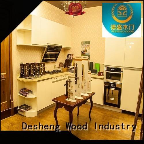 Desheng Wood Industry solid wood kitchen cabinets manufacturer for hotel