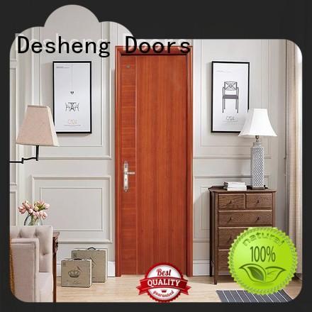 Desheng Doors footprint veneer door residence door for restroom