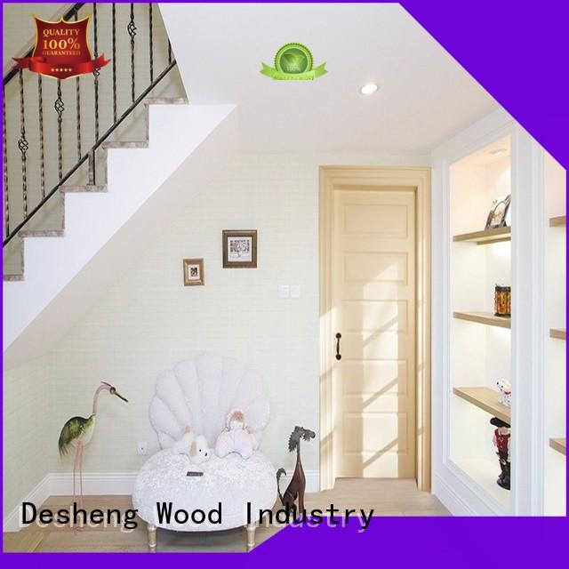 Desheng Wood Industry door skin plywood fine grooving for hotel