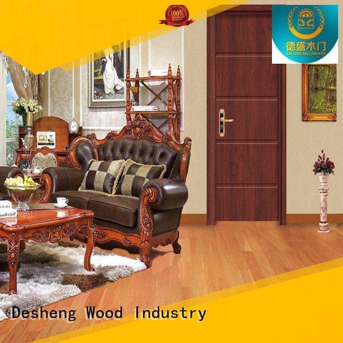 Wholesale dark solid wood interior doors Desheng Wood Industry Brand