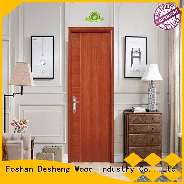 wood doors fiberboard OEM hdf door Desheng Wood Industry