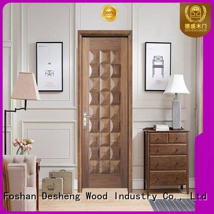 Desheng Wood Industry hardboard door residence door for restroom