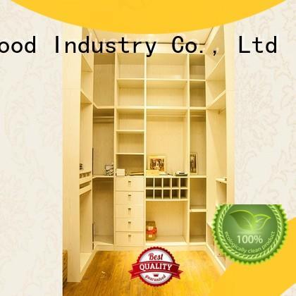 Desheng Wood Industry solid wood triple wardrobe customization for school