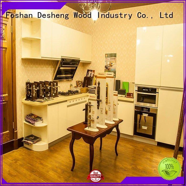Desheng Wood Industry wood kitchen cabinets for sale manufacturer for hospital