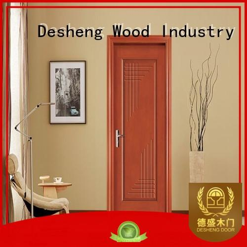 groined fire rated front door supplier for villa Desheng Wood Industry