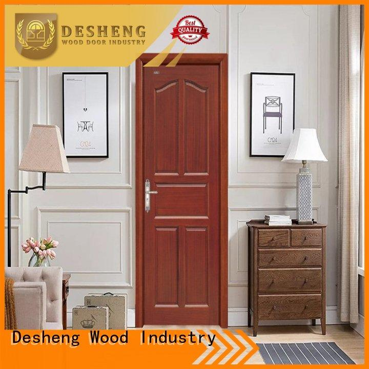 Desheng Wood Industry Brand hdf hardboard doors veneered supplier