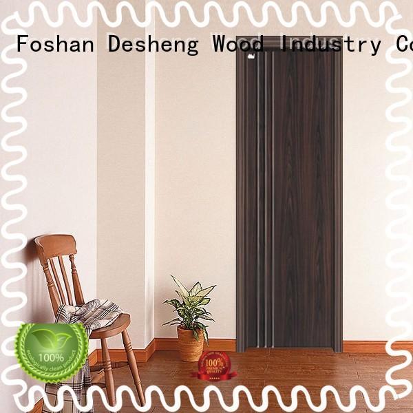 Desheng Wood Industry pvc strip door with fir wood jamb for hotel