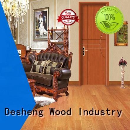 solid wood interior doors walnut long Desheng Wood Industry Brand