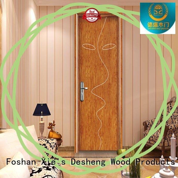 Desheng Doors mdf kitchen doors full seal edging for villa