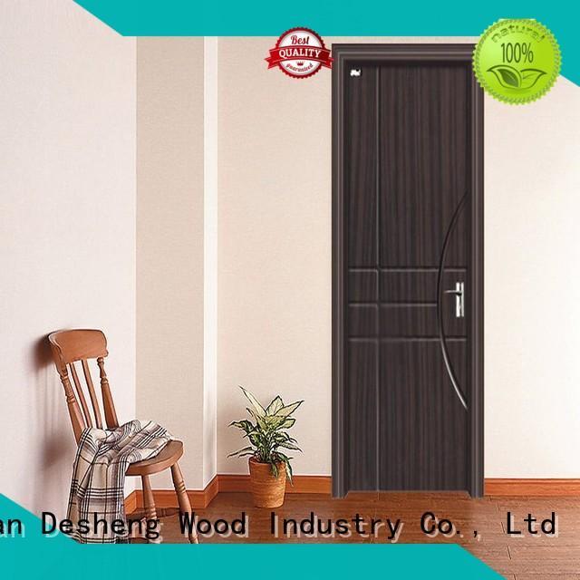 Desheng Wood Industry veneered pvc door manufacturers with fir wood jamb for hotel