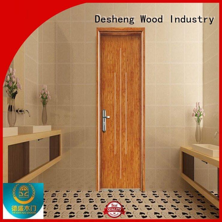 Desheng Wood Industry proof wpc waterproof flooring mediterranean toilet door for hospital
