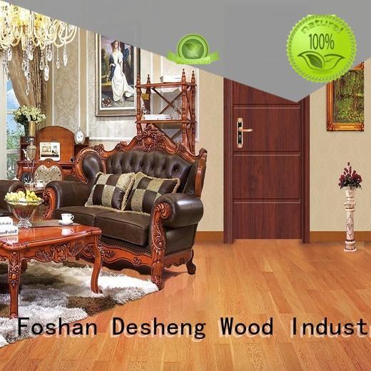 sapele solid wood door design in varnish paint for villa