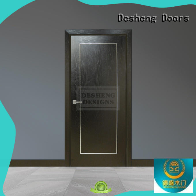 Desheng Doors double glazing hdf door skin toilet louver door for living room