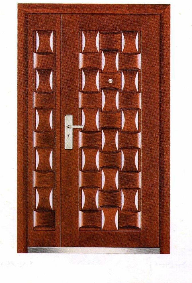 unequal panels swing open armored door