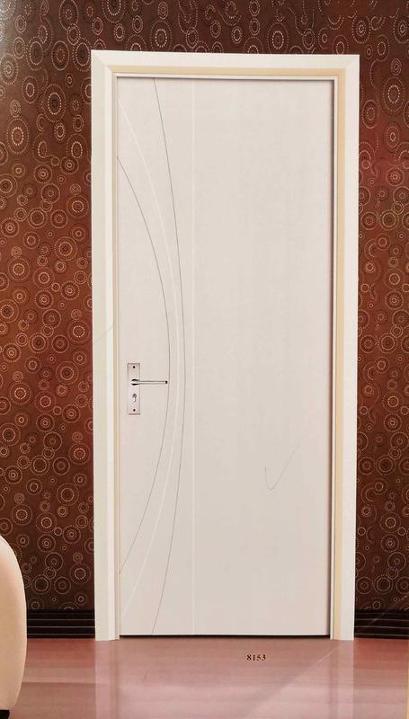 radiused ray design white color Tubular core door