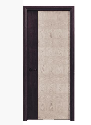 sharp color contrast solid wood joint chipboard core door
