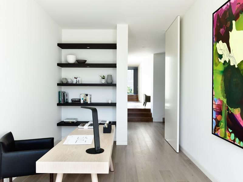 DS-FL01 contemporary design pure white color flush door