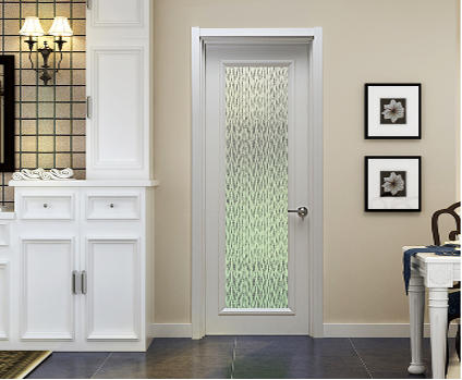 DS-FG01 French pure white glazing plain door